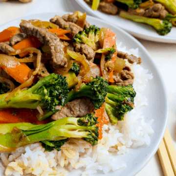 Chinese beef and vegetable stir fry