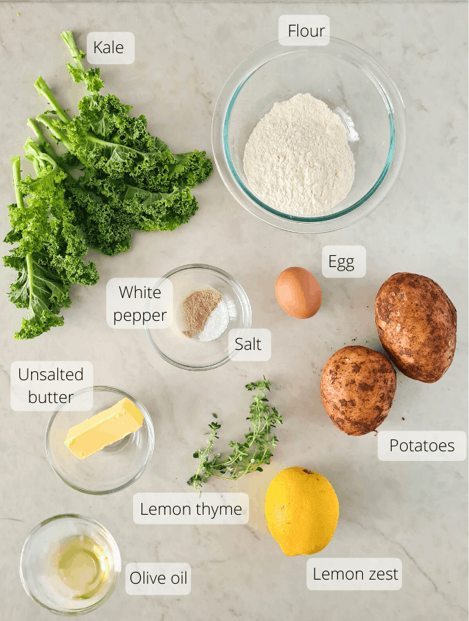 All ingredients required for this recipe, labeled