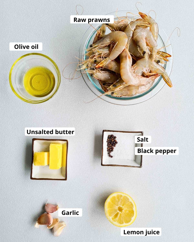 butter garlic shrimp ingredients