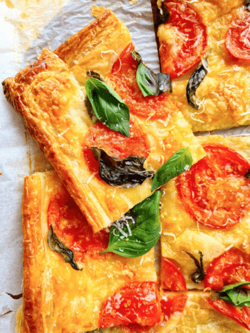 Puff pastry pizza easy quick meal