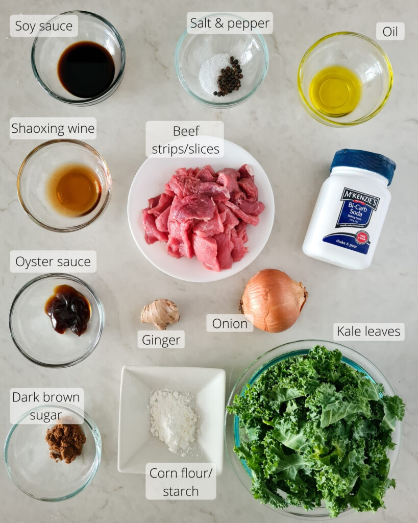 Overhead shot of all the ingredients required