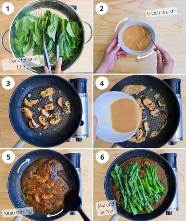 step by step on how to cook this dish