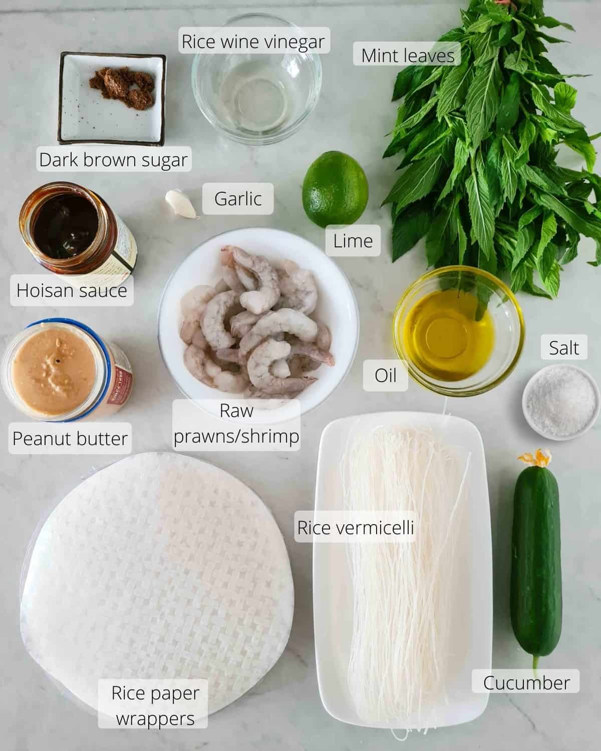 Overhead shot of all ingredients required for this recipe