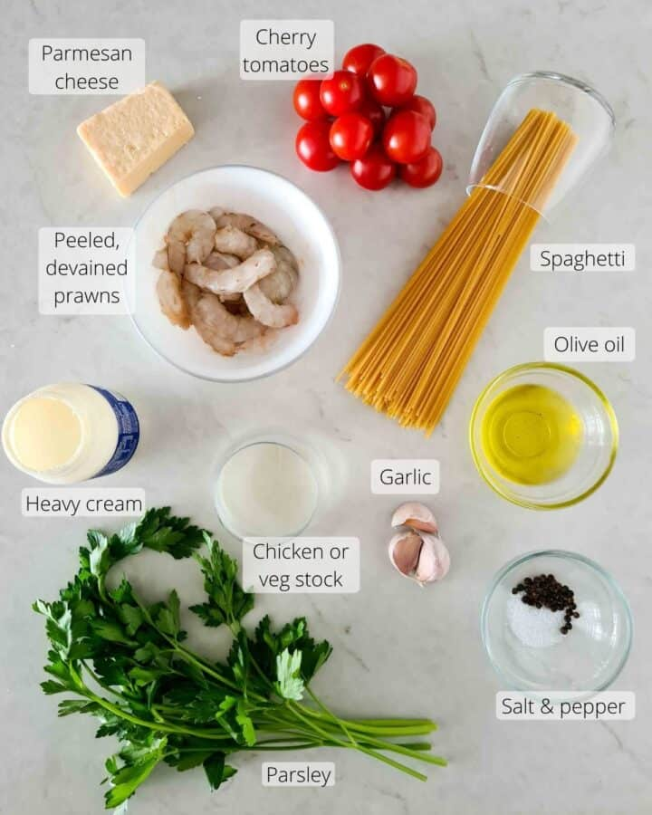All the ingredients required for this dish
