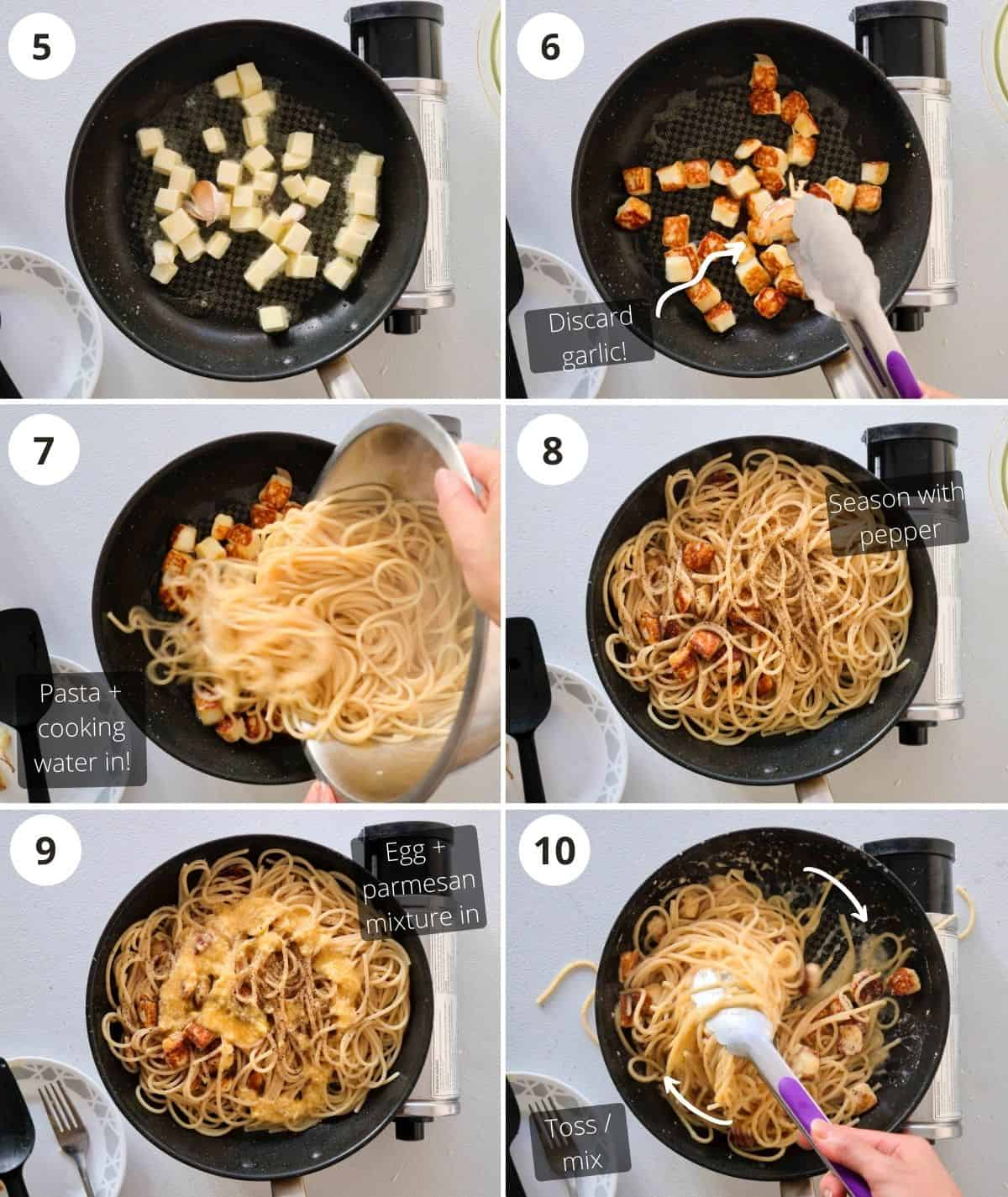 step by step cooking instructions