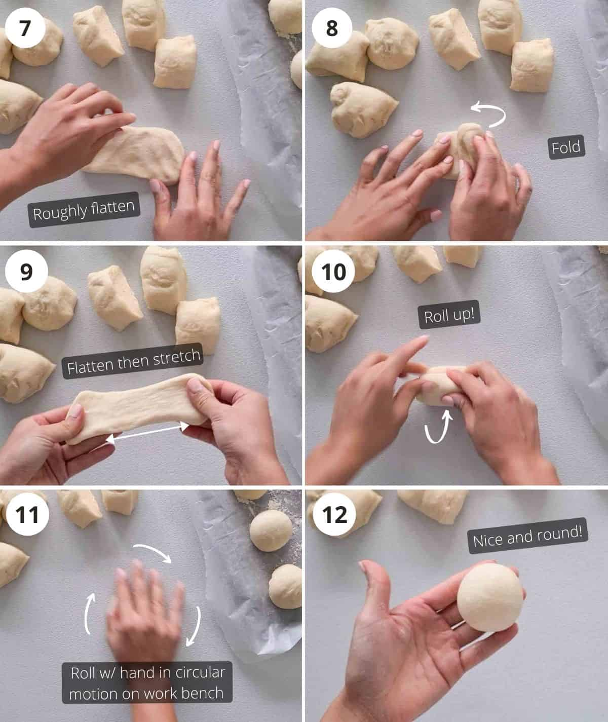 Making the milk buns step by step part 2