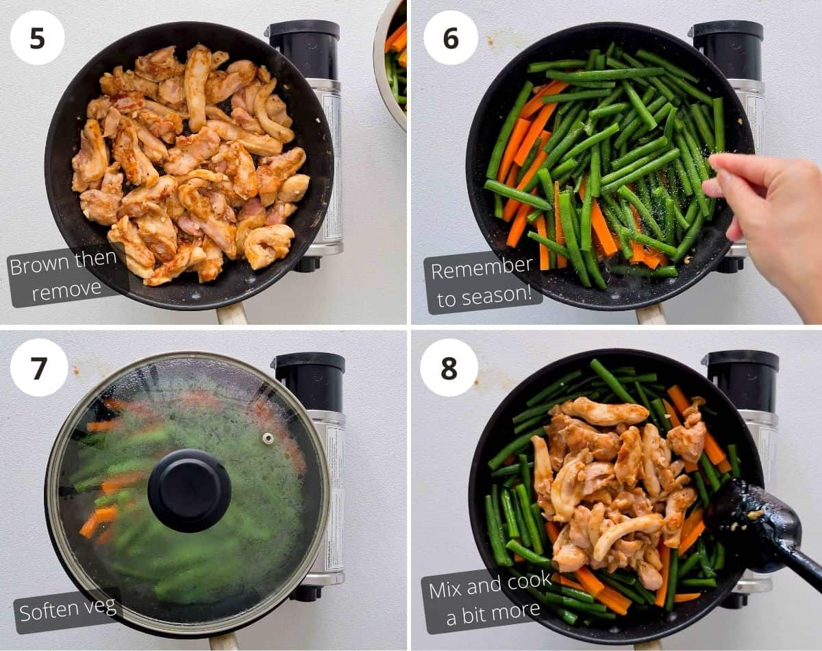 Cooking step by step instructions