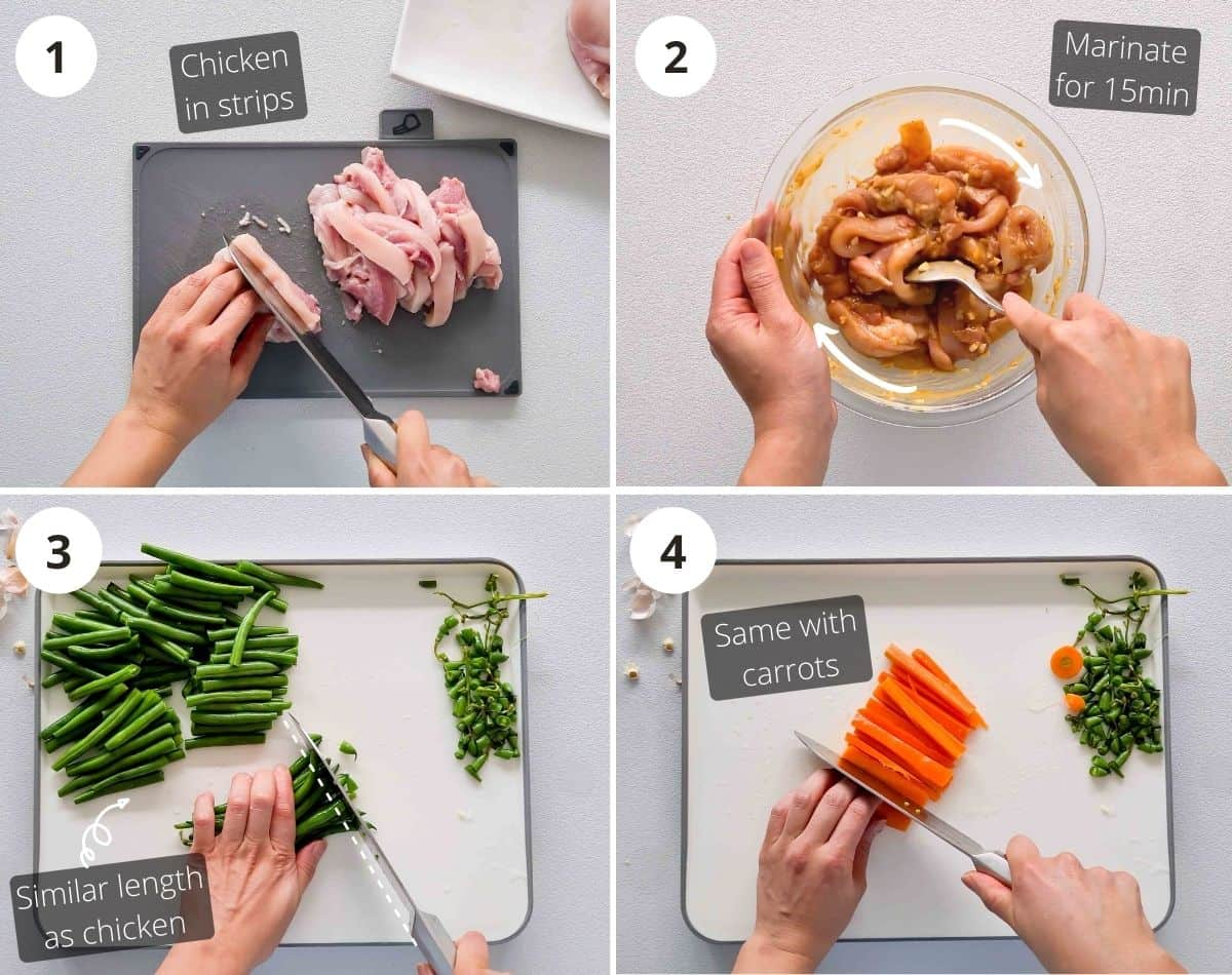 Preparation step by step instructions