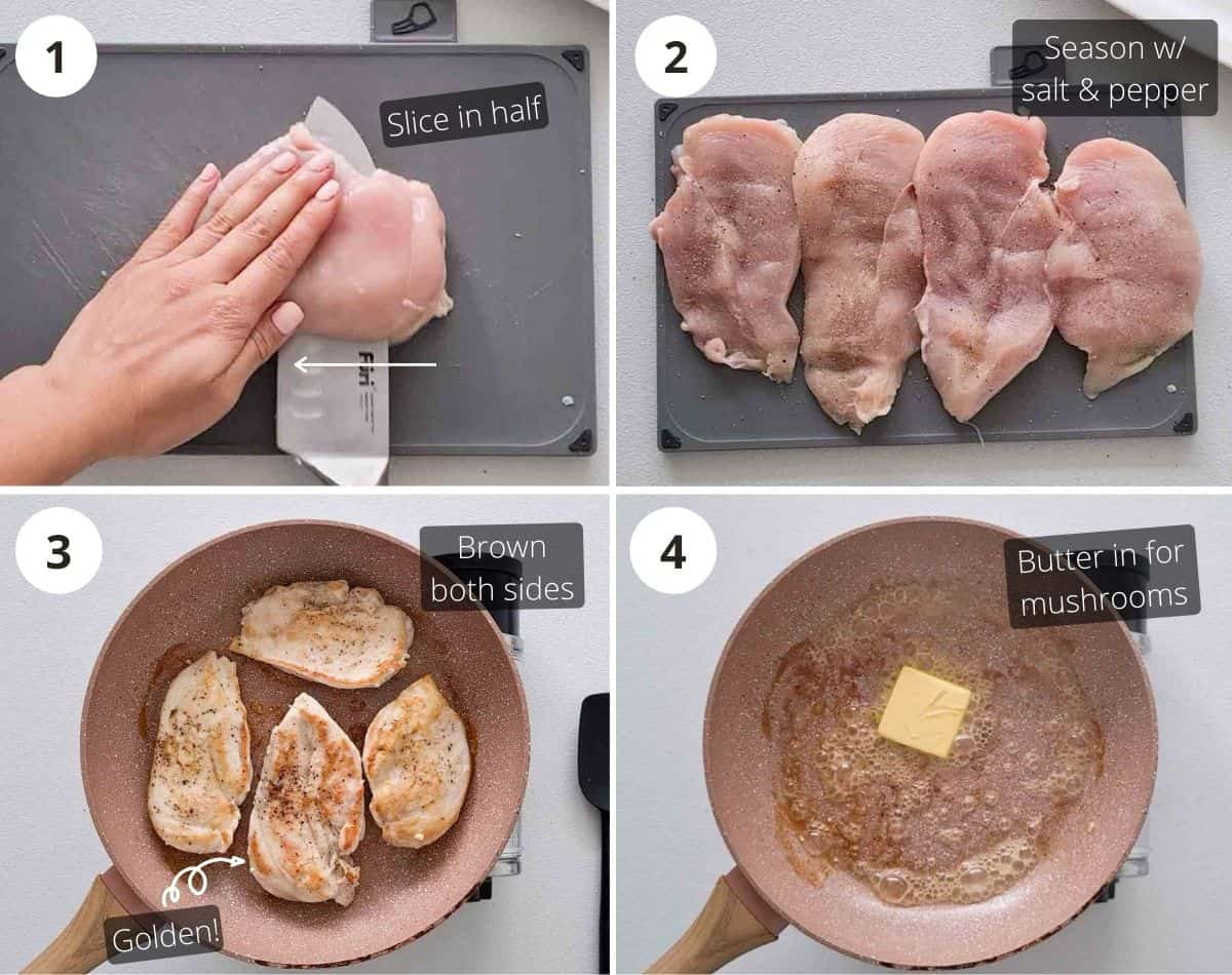 Step by step shots of making this recipe part 1