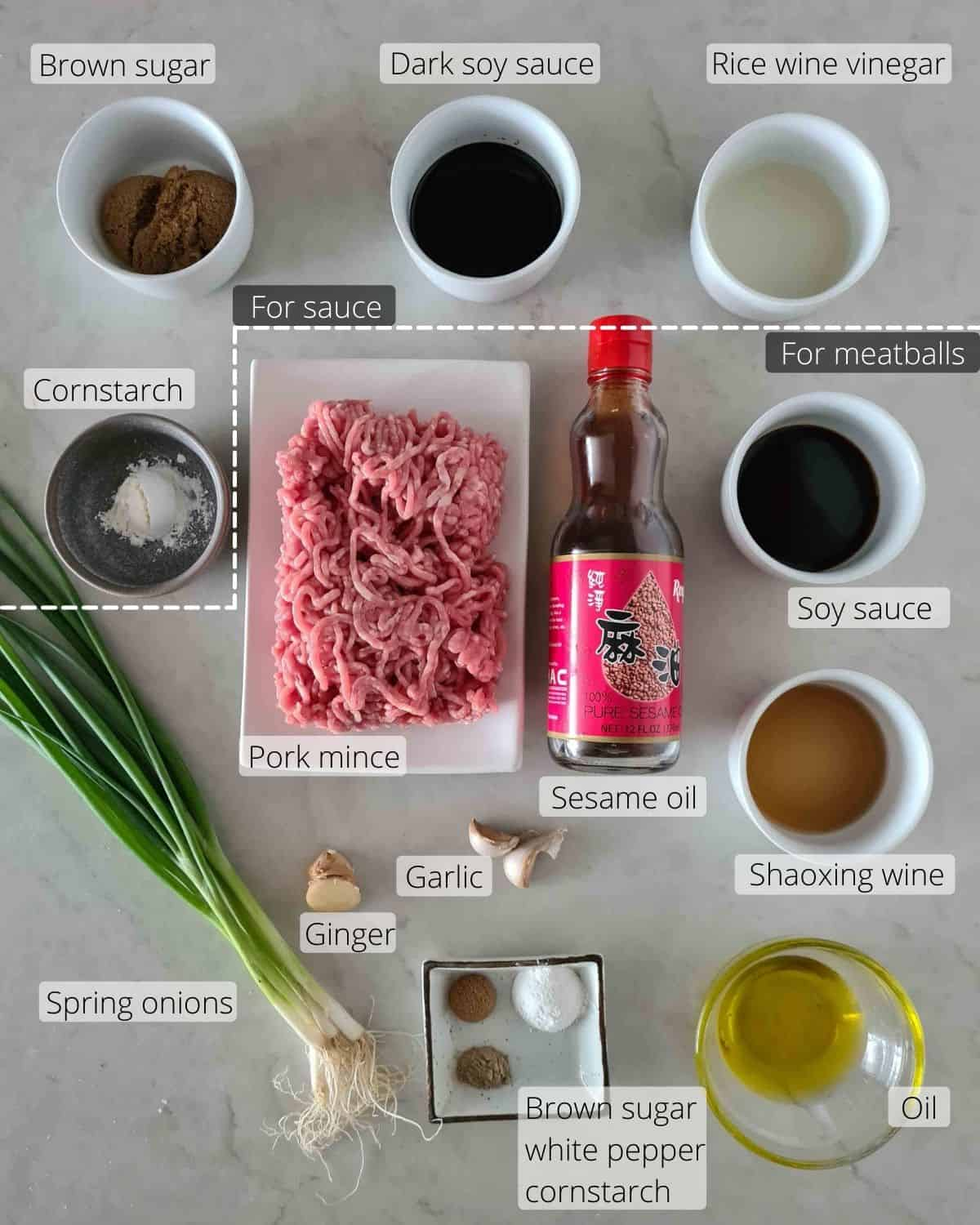 All the ingredients required for this recipe