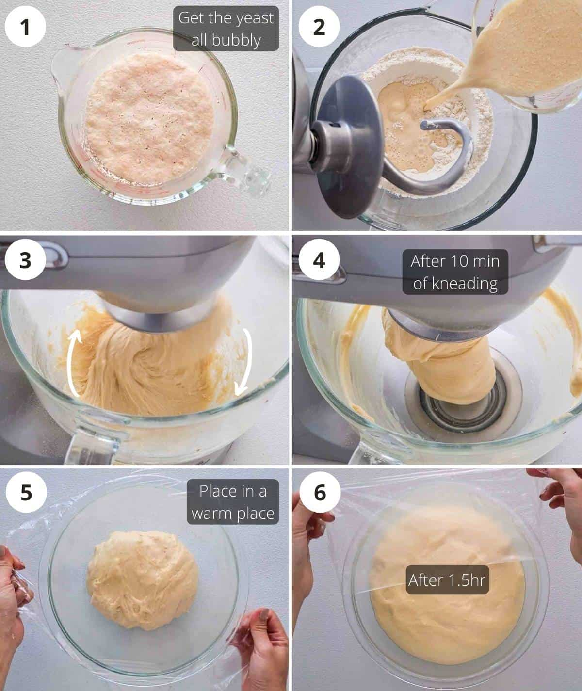 Step by step instructions on making the dough
