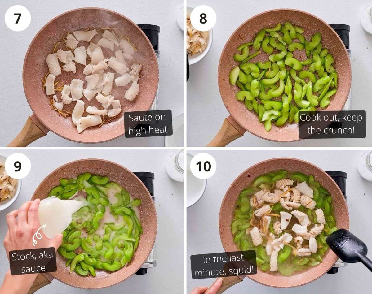 Step by step instructions on cooking this dish
