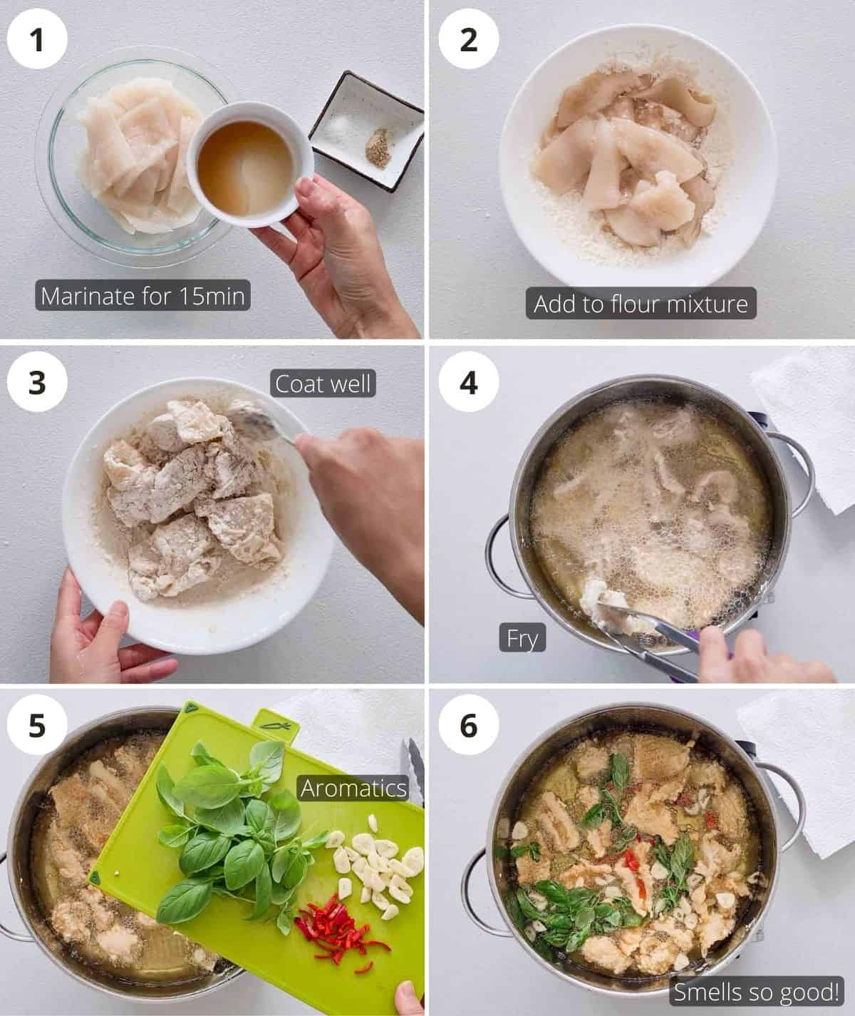 Step by step instructions to how to deep fry crispy squid