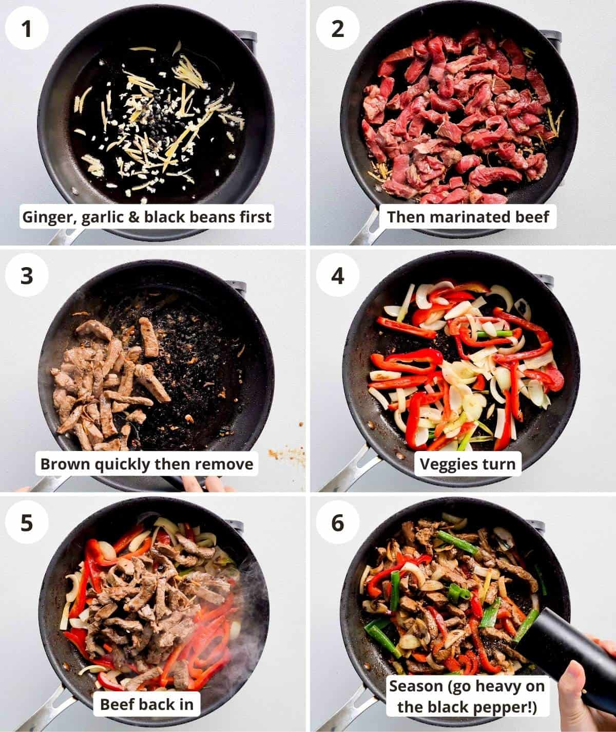 Step by step instructions for cooking this recipe with captions