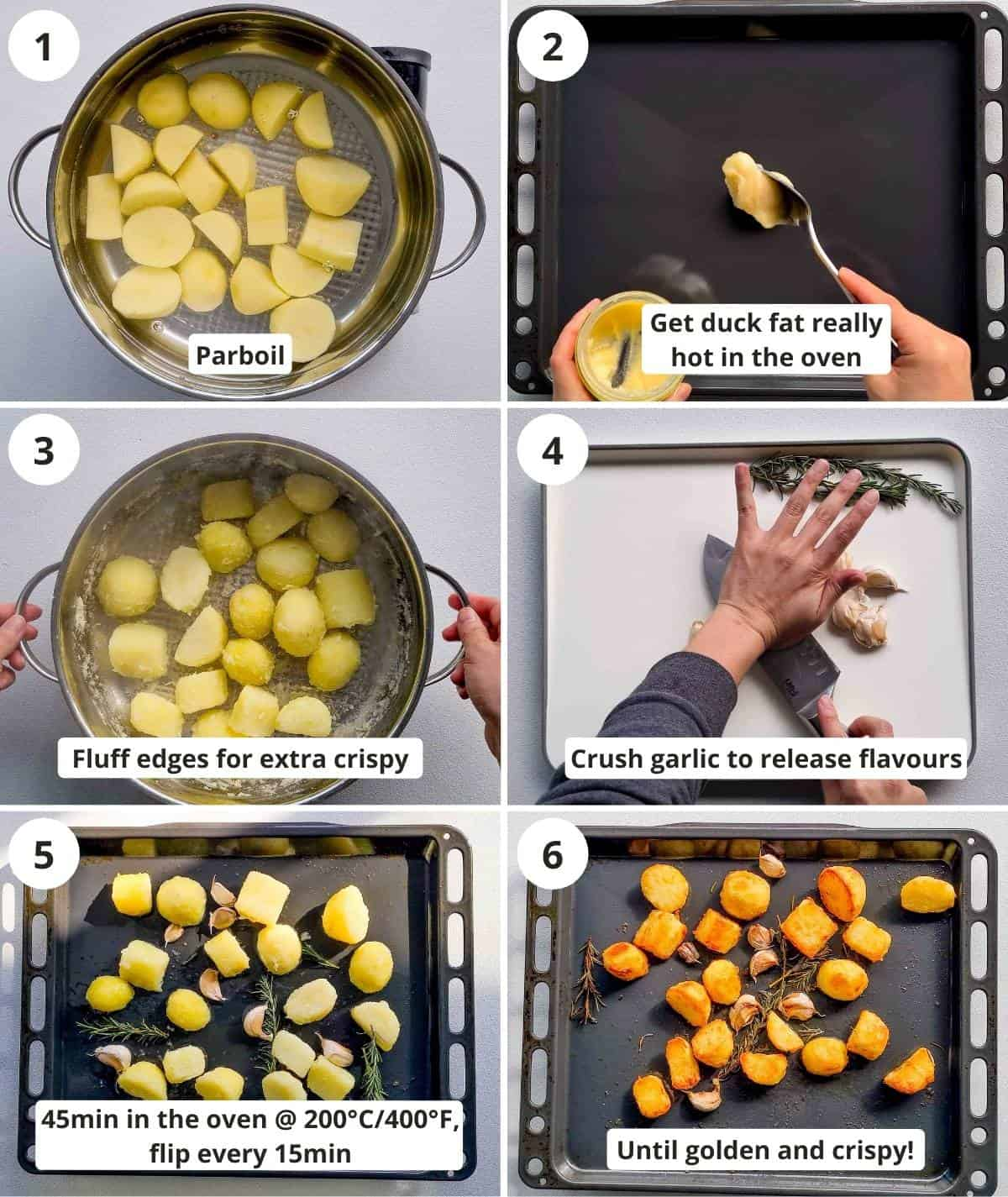 6 pictorial step by step instructions to make this recipe